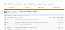 Office 365 SDK for Android posted to GitHub