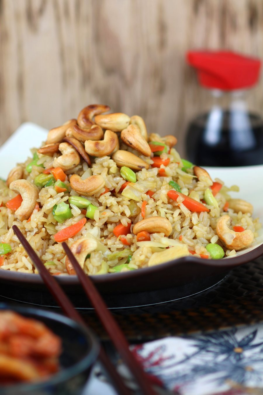 An under 20-minute recipe for Quick Vegetable Fried Rice that uses basic pantry ingredients and veggies you probably have hiding in your fridge!