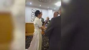 Ataque de risa interrumpe una boda; la novia no podía contener sus carcajadas