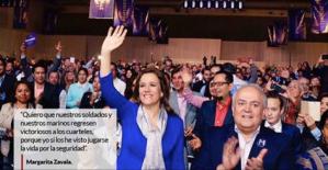 Margarita Zavala, la esposa del hombre que lanzó la guerra, pide que Ejército salga de las calles