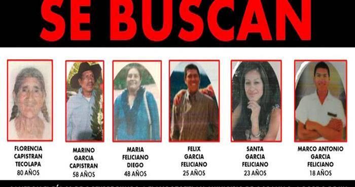 A casi 2 meses de la desaparición de una familia en Guerrero las autoridades suspenden la búsqueda, acusan