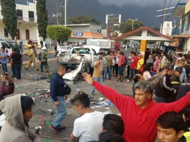 Mueren dos niños peregrinos tras explosión de tanque de gas en Veracruz
