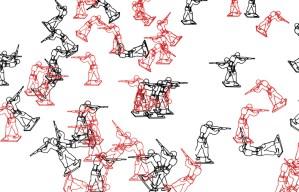 Random War, Chuck Csuri, 2011 (detail).