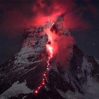 Hunderte Bergsteiger am Matterhorn