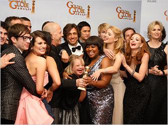 glee vince ai golden globe 2011 foto