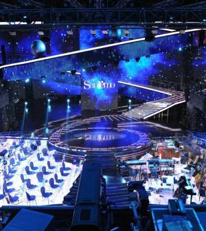 Foto scenografia Sanremo 2011