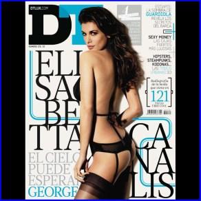 elisabetta canalis nella copertina di DT Foto