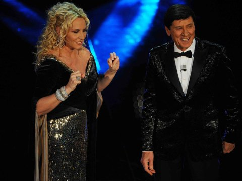 Antonella Clerici e Gianni Morandi Festival di Sanremo 2012 Foto