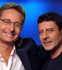 """Foto di Paolo Bonolis e Luca Laurenti conduttori di """"Avanti un altro"""""""
