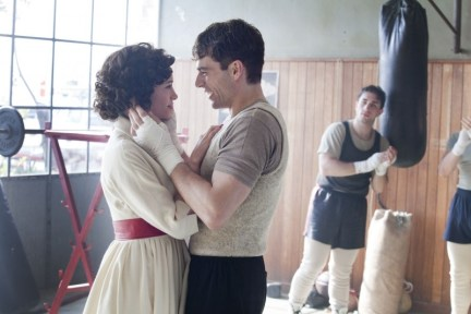 una foto dal set di il cmapione e la miss