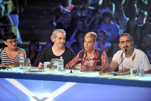 Foto Morgan, Simona Ventura, Elio ed Arisa