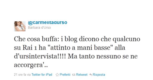 Barbara D'Urso si sfoga su Twitter