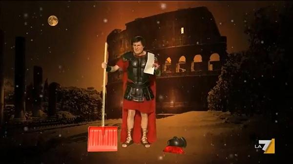 Alemanno Centurione la parodia di The show must go off