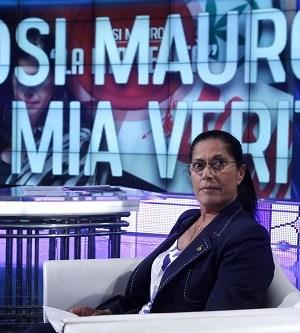La senatrice Rosi Mauro da Bruno Vespa