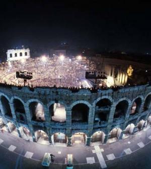 Foto dell' Arena di Verona per la finale di Amici