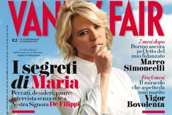 La copertina di Vanity Fair dedicata a Maria De Filippi