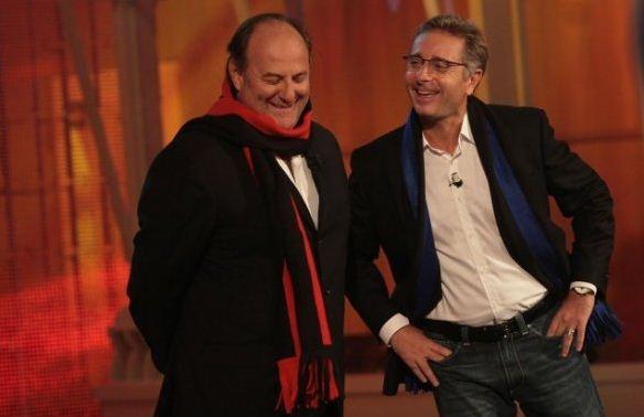Foto di Paolo Bonolis e Gerry Scotti Italia's got talent