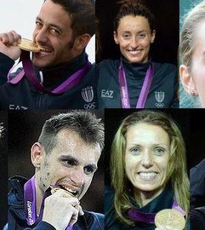 Foto degli azzurri che hanno vinto medaglia alle Olimpiadi di Londra 2012