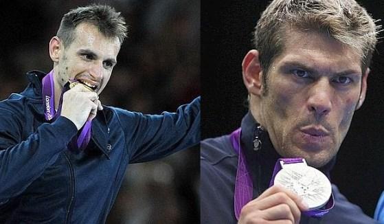 Foto di Carlo Molfetta oro e Clemente Russo argento alle Olimpiadi Londra 2012
