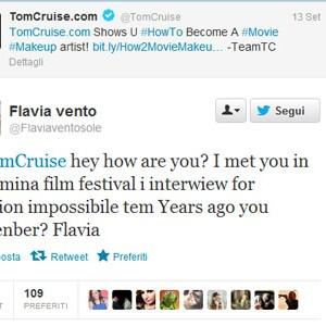 flavia vento tweet tom cruise twitter