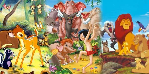 foto bambi, il libro della giungla, il re leone