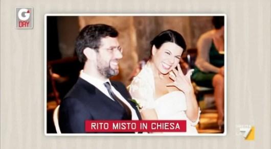 Luca Bonaccorsi e Geppi Cucciari sposi