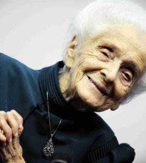 Foto di Rita Levi Montalcini a 103 anni