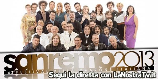 Foto prima serata Festival di Sanremo 2013