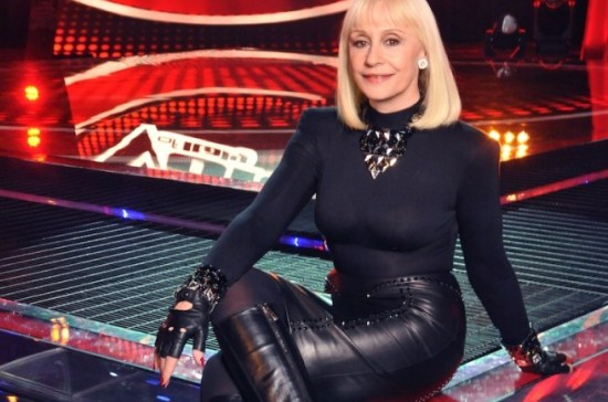 foto di raffaella carrà a the voice of italy