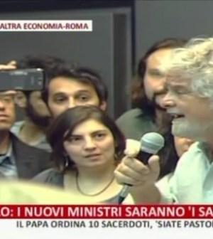 Beppe Grillo a Roma