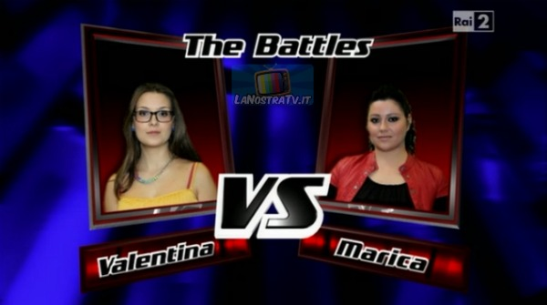 Foto di Valentina vs Marica The Voice of Italy