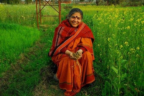 L'attivista indiana Vandana Shiva