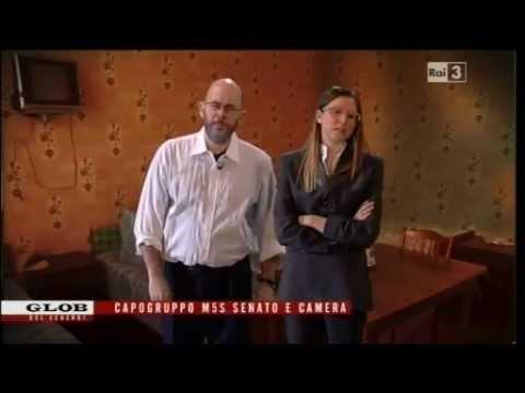 Roberta Lombardi e Vito Crimi: imitazione dei capigruppo 5 Stelle
