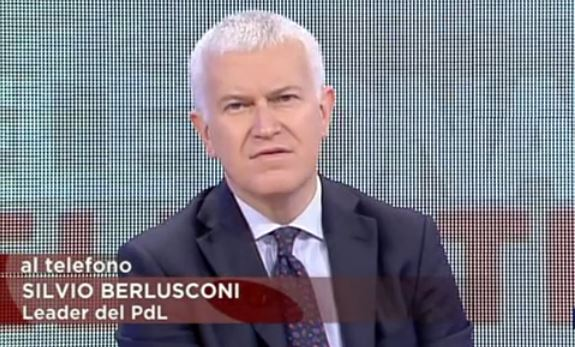 Berlusconi telefona a Belpietro in diretta