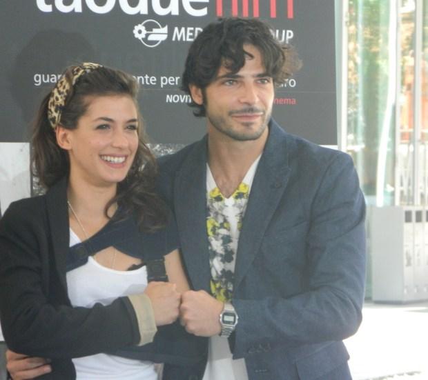 Giulia Michelini e Marco Bocci in conferenza stampa