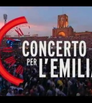 foto del logo del concerto per l'emilia