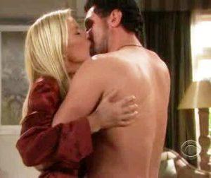 Brooke e Bill bacio