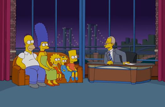 video omaggio david letterman the simpsons