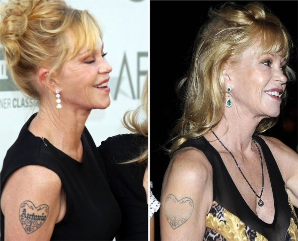 melanie griffith cancella il tatuaggio