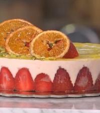 foto mousse arancia con cremoso al pistacchio