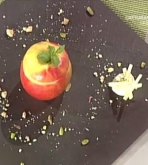 Dolci La prova del cuoco: mela rosa al cioccolato Guido Castagna