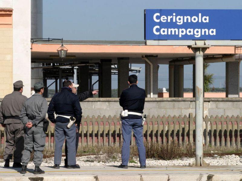 Ceringnola, assalto ad un treno merci: banditi fuggono a mani vuote
