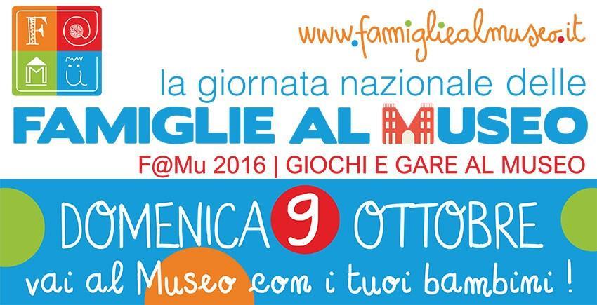 F@mu 2016, domenica 9 ottobre giornata nazionale delle famiglie al museo