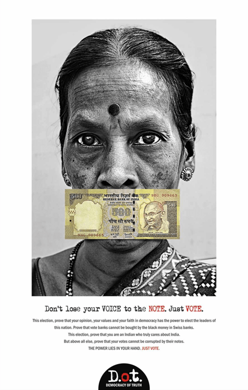 democracy of truth india ad advertising publicitat india democracia lapanoramica la panoramica