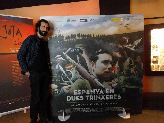 Alexandre Hurtado en el preestreno de 'España en dos trincheras. La Guerra Civil en color'