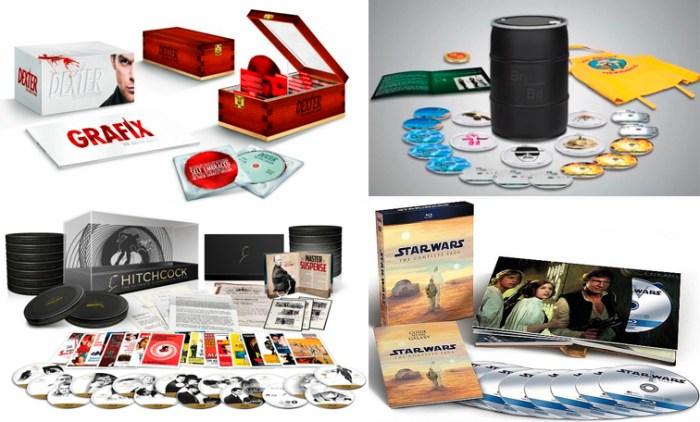 Arriba colecciones especiales de las series 'Dexter' y 'Breaking Bad'. Abajo ediciones especiales de 'Hitchcock' y 'Star Wars'.