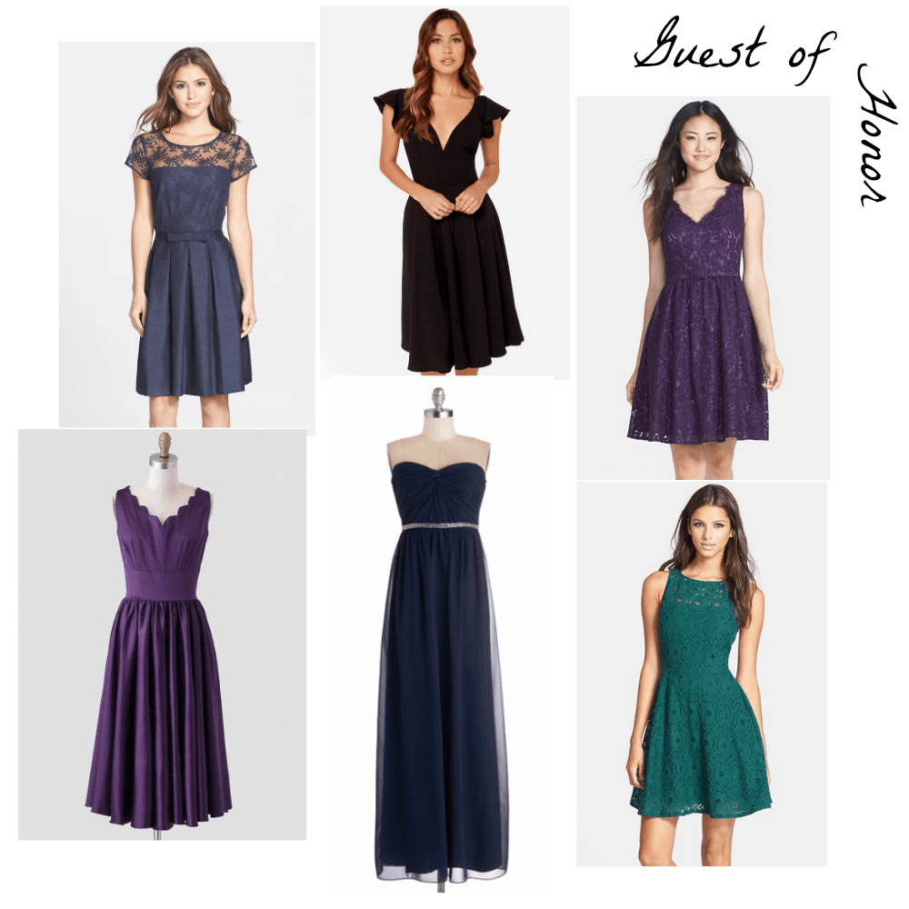 fall and winter wedding style modcloth wedding dresses Top Row Taylor via Nordstrom Lulu s Eliza J via Nordstrom Bottom Row Ruche ModCloth BB Dakota via Nordstrom