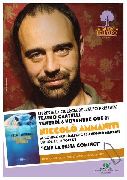 Niccolò Ammaniti - La Quercia dell'Elfo - poster 2009