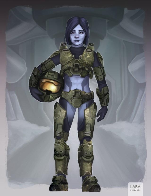 Teen Cortana with Spartan Mark VI armor