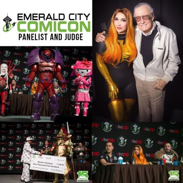 ECCC 2017 - Costume contest judge with Punished Props and Weta Workshop. Panelist on how to build costumes. 2017